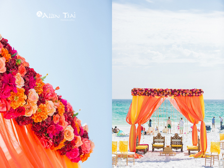 hilton_sandestin_wedding_hindu_beach_ceremony_mandap