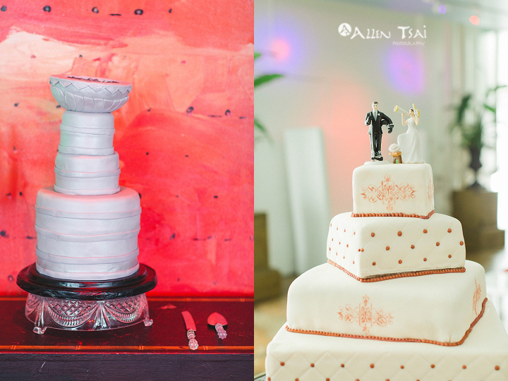 purple_stanely_cup_wedding_cake_red_backdrop