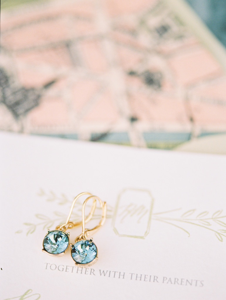 Dallas Film Wedding Photographers Castle at Rockwall bride earrings